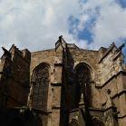 Rückansicht der Kathedrale von Barcelona