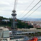 Über dem Hafen von Barcelona